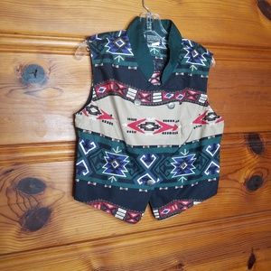 Vintage Roughrider Circle T Western Vest Large